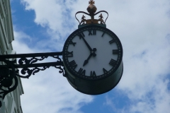 Clock on old post office