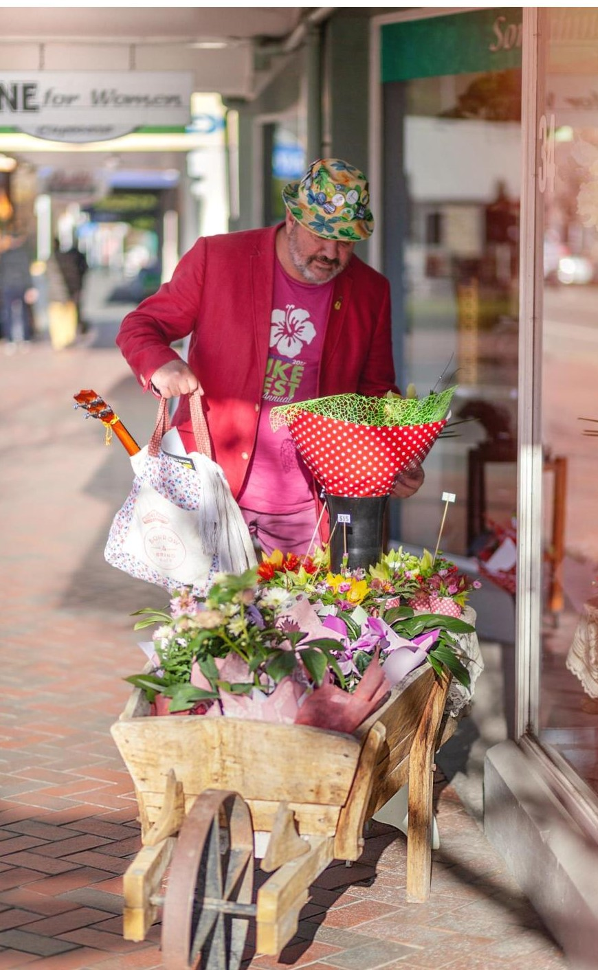 Shopping in Geraldine with Boomerang Bags