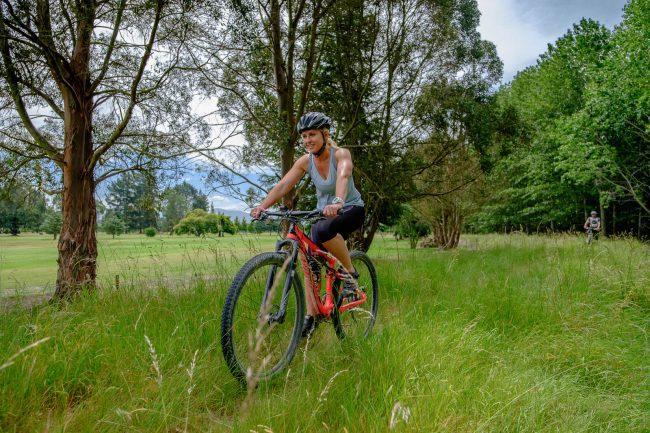 Geraldine Mountain biker